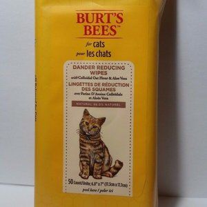 5 Burt's Bees for Cats Dander Reducing Wipes